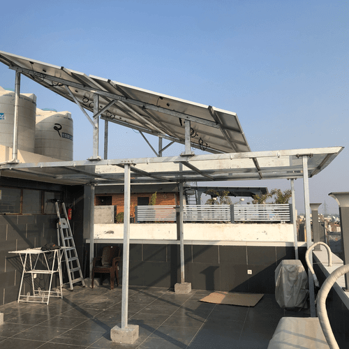rooftop canopy installed
